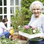 senior woman enjoying gardening as a hobby