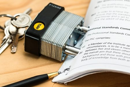lock on a contract with legal language