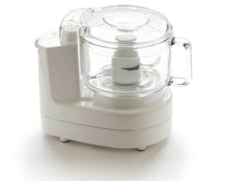 white food processor on white background