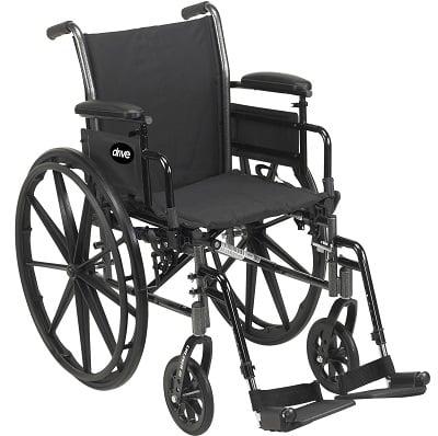 a standard manual wheelchair