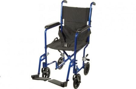 blue transport wheelchair