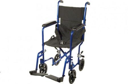 blue transport wheelchair