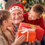 giving the perfect gift to an elderly man
