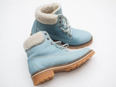 pair of snow boots on a white background