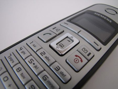 close up of a cordless phones