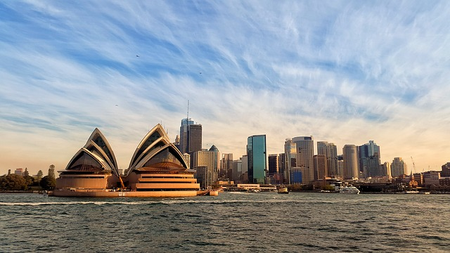 world famous opera house on the Sydney Australia waterfront