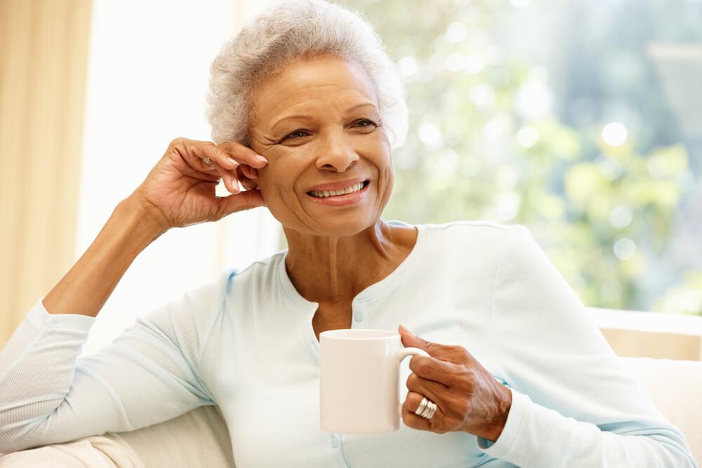 elderly coffee maker