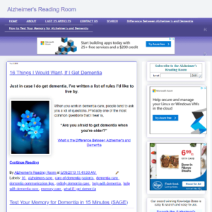 alzheimers reading room screenshot