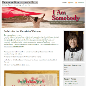 i am somebody blog screenshot