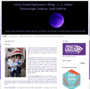 early onset alzheimers blog screenshot