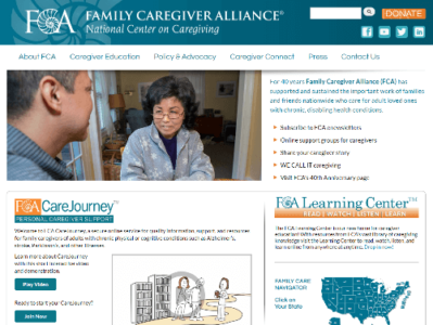family caregiver alliance screenshot