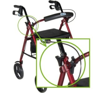 rollator adjustment handles