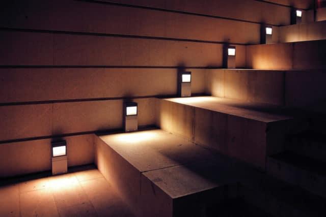 nightlights on the stairs