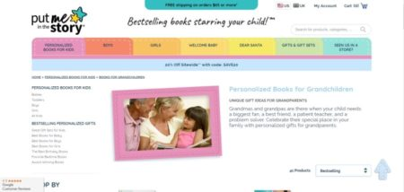 homepage for put me in the story books