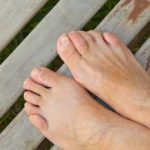 diabetic feet with well trimmed toenails