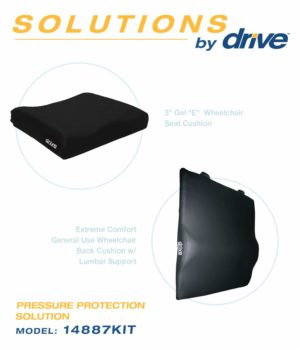 Drive Medical Wheelchair Back and Cushion Combo