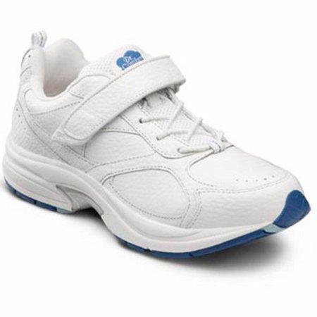 Dr. Comfort Spirit Women's Athletic Shoe: 10.5 Medium (A-B) White Elastic Lace w/Strap