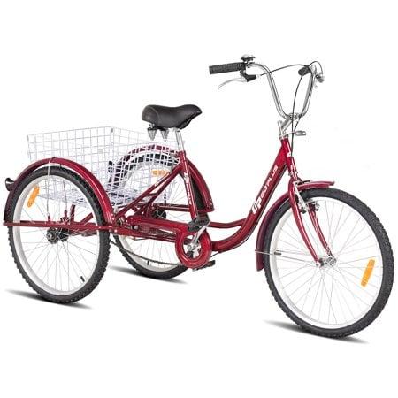 Goplus 24'' Single Speed 3-wheel Bicycle