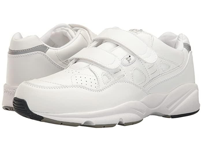 Propet Stability Walker Strap (White) Men's Shoes