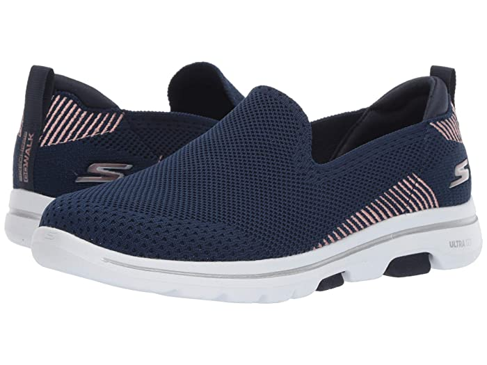 SKECHERS Performance Go Walk 5 - Prized (Navy) Women's Shoes