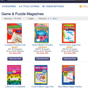 Puzzle Book Subscriptions | Magazine Agent