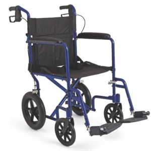 Medline Excel Aluminum Transport Chair with 12