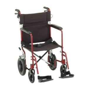 Nova Transport Chair with 12″ Rear Wheels and Fixed Arms