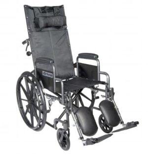 Drive Medical Silver Sport Full Reclining Wheelchair