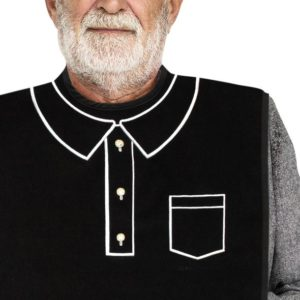 men's polo dignified adult bib