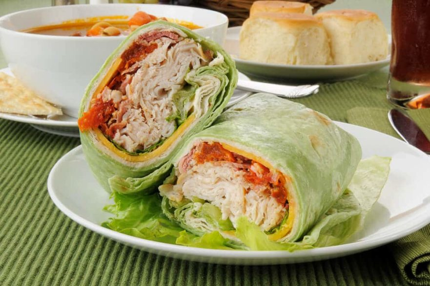 turkey wraps are quick snacks for the elderly