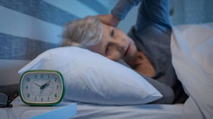 elderly woman unable to sleep