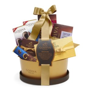 Signature Chocolate Gift Basket, Classic Ribbon | GODIVA