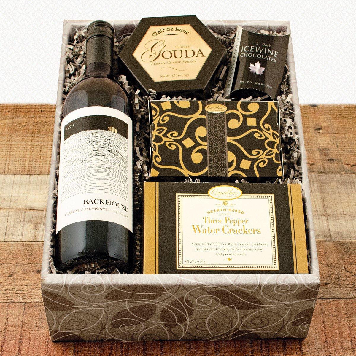 Red Wine & Snax Gift Box | WineBasket.com