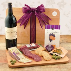 Cutting Edge Wine & Cheese Board Gift | WineBasket.com
