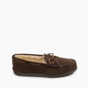 Pile Lined Hardsole Moccasin Slippers | Minnetonka Moccasin
