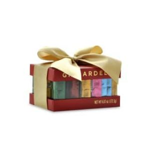 ghirardelli red gift box with bow