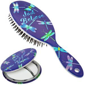 Just Believe Hairbrush & Pocket Mirror Set | GreaterGood