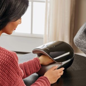 Brookstone Air and Shiatsu Hand Massager with Heat