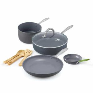 Lima Ceramic Nonstick 8-Piece Cookware Set | Greenpan