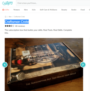 Craftsman Crate Skill Building Subscription Box