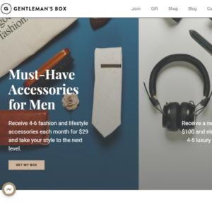 Gentleman's Box Men's Accessories Box