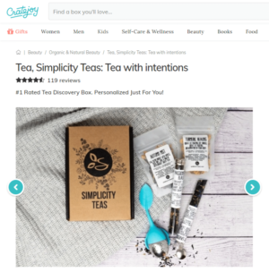 Simplicity Loose Teas: Tea with Intentions Subscription Box | Crate Joy