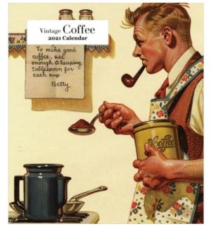 Vintage Coffee Easel Calendar