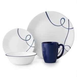 Lia 16-piece Dinnerware Set, Service for 4 | Corelle