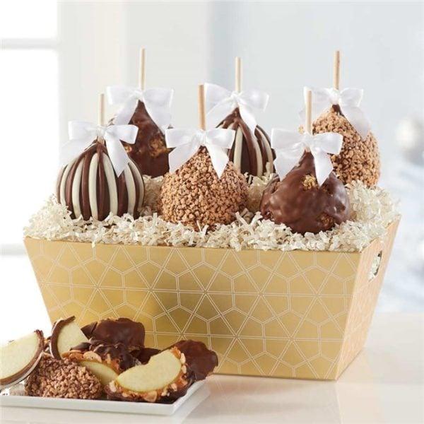 Golden Elegance Caramel Apple Gift Tray | Mrs Prindables