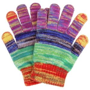 Rainbow Delight Touch Screen Mittens | GreaterGood
