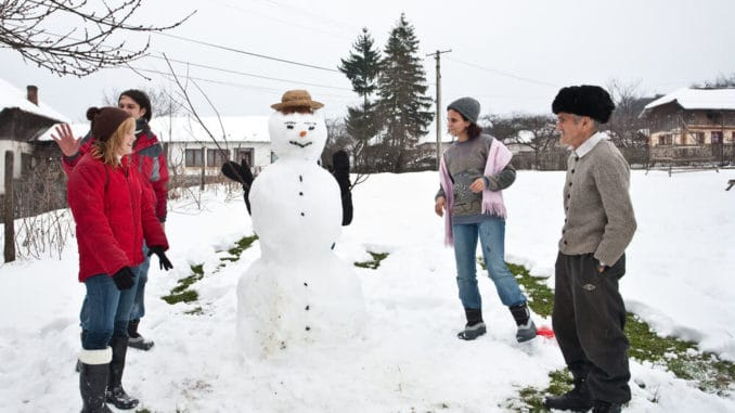 Get outside with the family and enjoy watching them in their activities such as snowball fights and building snow men.