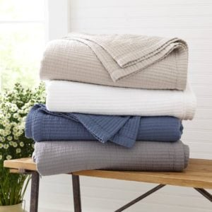 Riley Home Textured Cotton Coverlet