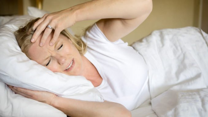 woman with menopause with insomnia