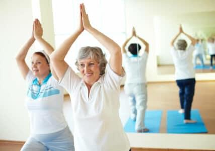 seniors enjoying safe and easy exercise